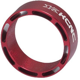"""KCNC Hollow Design Headset Spacer 1 1/8"""" 10mm, rojo"""